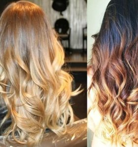 Наращивание омбре волос