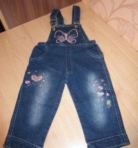Комбинезон джинсовый 1-1,5 года