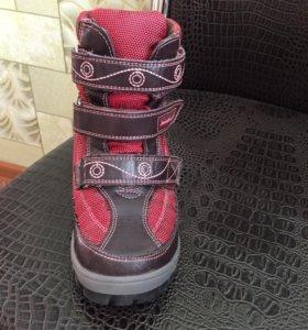 Ботинки для девочки, зимние. Натуралка