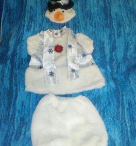 Новогодний костюм Снеговик