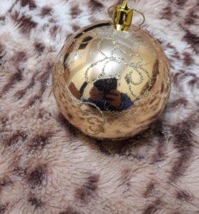Елочное украшение шар с узором