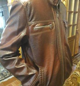 Кожаная куртка, размер 50-52