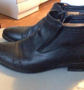 Мужские кожаные ботинки 45