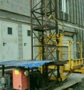 Мачтовый подьемник грузовой пмг-1000кг