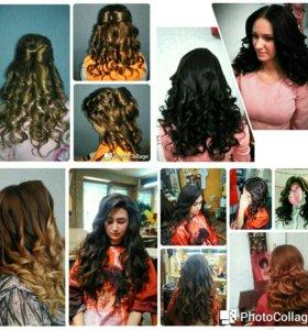 Плетение кос,локоны,прически,стрижки и укладки