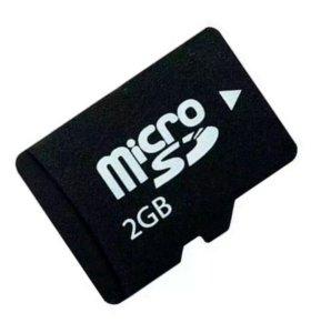 флеш карта microsd 2gb