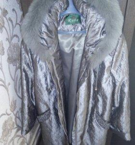 Куртка демисезонная  с кроликом. 56-58 размер