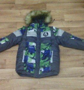Новая зимняя куртка на мальчика рост 150-160см.