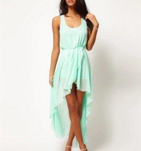Платье мятного цвета новое