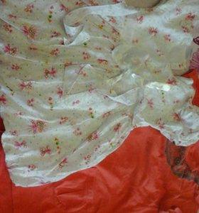 Платья 9 шт.девочке 1-2 года
