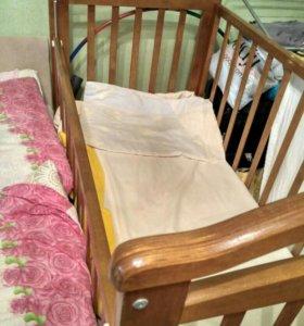 Кроватка маятник детская
