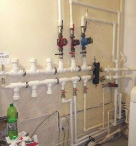 Монтаж отопления, водопровода. Сварка.