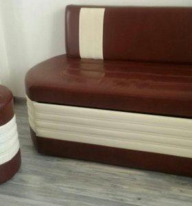 диван и пуфик на кухню