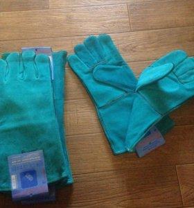 Перчатки-краги,защитные из спилка