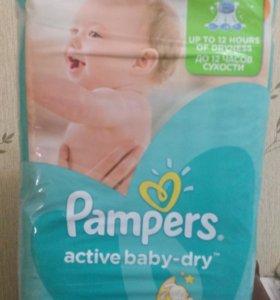 Подгузники Pampers active baby - dry 4 (8-14 кг)