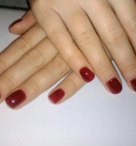 Наращивание, шеллак и покрытие своих ногтей гелем