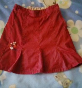 Детская вельветовая юбочка 104.