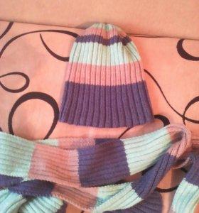 Шапка+ шарфик
