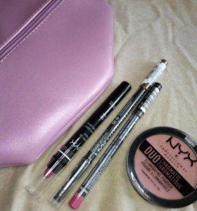 NYX оригинал - помада, карандаш, хайлайтер