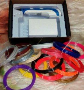 3 д ручка + набор цветных нитей.