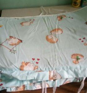 Бортик для кроватки детский в хорошем состоянии