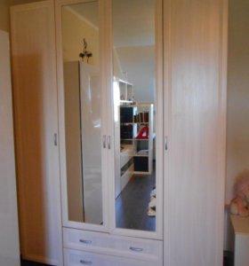 Шкаф 4-х створчатый с 2-мя зеркалами