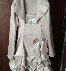 Нарядое красивое платье с болеро