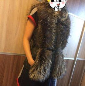 Куртка-жилетка из чернобурки.