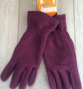 Флисовые перчатки новые