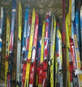 Лыжи, ботинки, палки (б/у и новые)