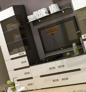Стенка Виго 2,8м белый глянец