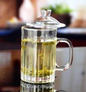Кружка для чая с крышкой