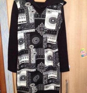 Тёплое платье-туника (новое)