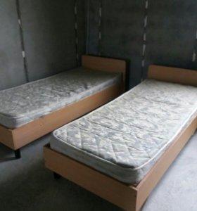 Кровати с матрасом