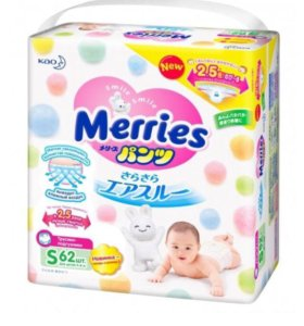 Трусики-подгузники Merries S
