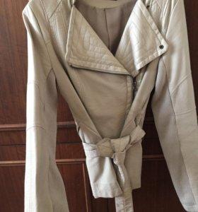 Крутая куртка косуха ( кожзам) xxs