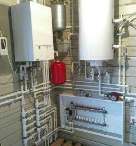 Монтаж отопления, водоснабжения, канализации!