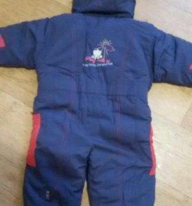 Детский зимний комбинезон для мальчика 68 см