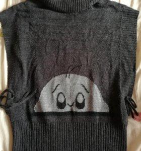 Кофта туника свитер пончо кардиган для беременных