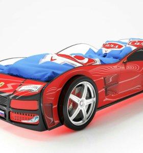 Кровать Турбо красная