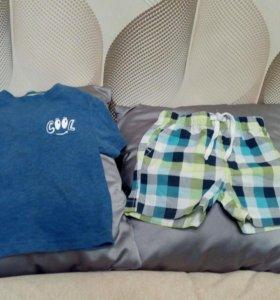 Комплект шорты и футболка ostin р.86