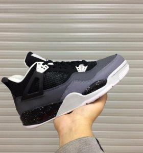 Кроссовки Air Jordan Retro 4 Black/Grey