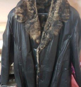 Куртка зимняя кожа мужская