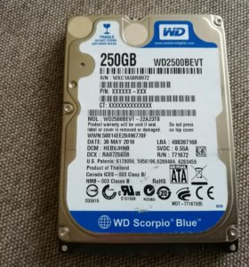 WD Scorpio Blue 250Gb