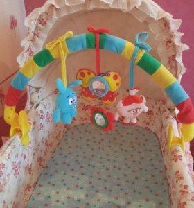 Дуга с игрушками на кроватку/коляску