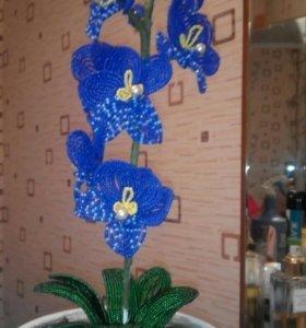 Цветы из бисера,в подарок родным