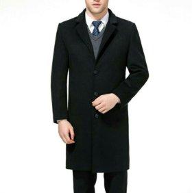 Пальто мужское зимнее шерсть/кашемир черное
