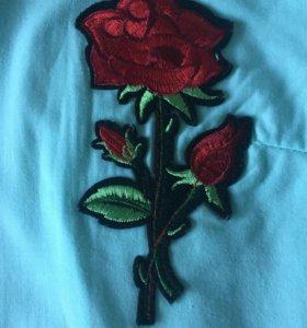 Рубашка с розой