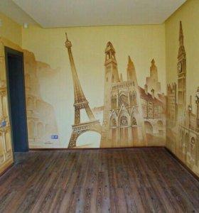 Роспись стен,картины,рисунки на заказ.