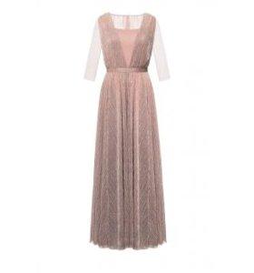 Длинное платье, розовый